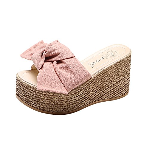 Logobeing Sandalias y Chanclas Plataforma Mujer Sandalias de Vestir Casual Zapatos de Baño Verano Fiesta Chanclas 35-40 (37, C)