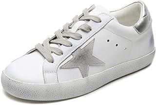 XL_nsxiezi Patrón de Estrellas de los Zapatos Planos de Cuero de Las señoras de la Vendimia