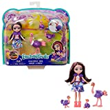 Enchantimals Sunny Savanna Muñeca Ofelia Ostrich con familia de avestruces mascota de juguete (Mattel GTM32)