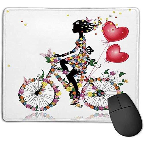 muismat bloem meisje fiets met ballonnen valentijn fiets fee mode vrouw hart tiener meisjes decor