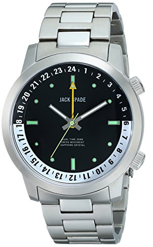 Jack Spade Men's WURU0044B Clarkson Analog Display Swiss Quartz Silver Watch
