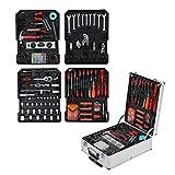 GOTOTOP - Maletín de herramientas completo con caja de herramientas, 186 piezas de herramientas mecánicas, bricolaje, con carrito de almacenamiento para reparaciones diarias, 50 x 37 x 17 cm