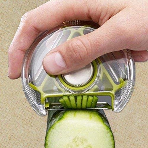 WYFC Gadgets de cuisine couteau multifonctionnel froide de pommes de terre éplucheuse râpe inox trois-en-un (couleurs aléatoires)