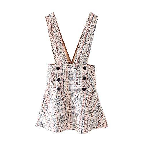 QUNLIANYI Drucken Sie Eine Linie Kleid Frauen Ärmellose Rückenfreie Minikleider Lady Button Dekorieren Sie Casual Dress S.