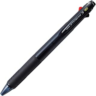 Uni Ballpoint Pen Jetstream 3 Color Black, Red, Blue Ink 0.38mm, Transparent Black (SXE340038T.24)