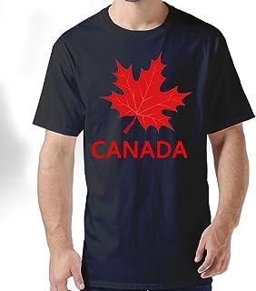 ZYXcustom Canada Souvenir Maple Leaf Men's Short-Sleeve Crewneck T-Shirt