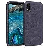 kwmobile Hülle für Apple iPhone XR - Case Handy Schutzhülle Stoff - Backcover Cover Canvas Design Violett
