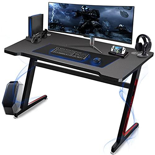 Huracan Mesa Gaming Ergonómica Mesa de Gamer Grande Mesa Ordenador Escritorio para...