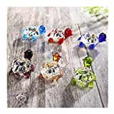 Crystalsuncatcher Handmade Tiny Turtle Hand Blown Glass Ornaments Gifts Decor Collectible Figurine Gardens(Turtle)