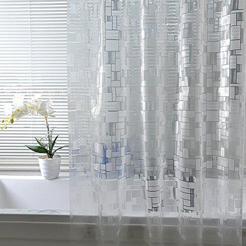 Rideaux de douche Moisissure imperméable à l'eau Rideaux salle de bains rideau de salle de bains Protection de l'environnement et rideaux transparents-A 120x200cm(47x79inch)