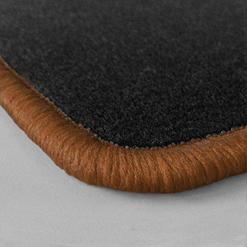 bester Test von fiat new panda Deine Lieblingsrandfarbe!  Fußmatte aus Nadelfilz nach Maß mit brauner Kante (315) Neu für Fiat…