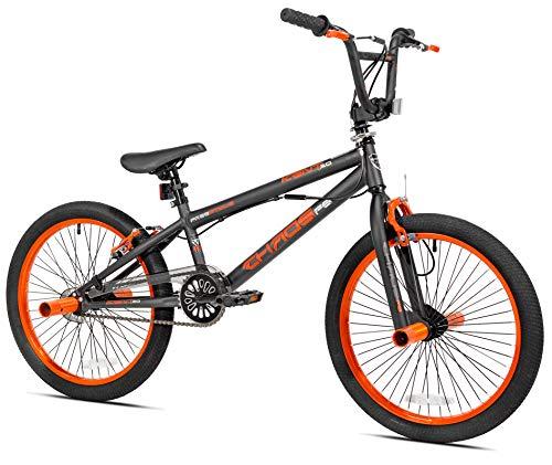 """KENT 20"""" Chaos Boys' Bike, 62082, Matte Gray/Orange (Matte Gray/Orange)"""