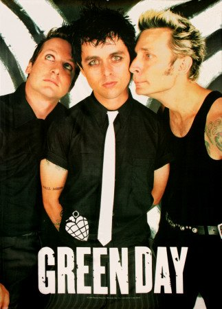Green Day Band 30'' x 40'' Textile/Fabric Poster