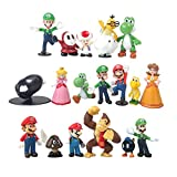 18 Pcs (1 Set ) Super Mario Bros Super Mary Princess, Turtle, Mushroom, Orangutan , Super Mary Action Figures, 1.2 '- 2'