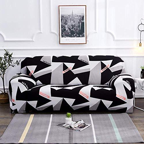 Lsqdwy Schwarz weiß grau Sofabezug Enge Wickel All-Inclusive-Gummiband Slipcovers Sofabezüge Sofabezug 1/2/3/4 Sitzer, K209,2 Stück 45x45cm