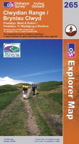 OS Explorer map 265 : Clwydian Range / Bryniau Clwyd