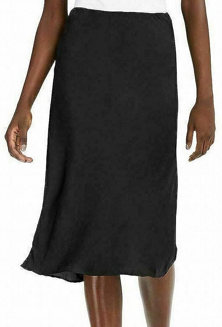 INC Womens Solid Biased Cut Skirt Black XL