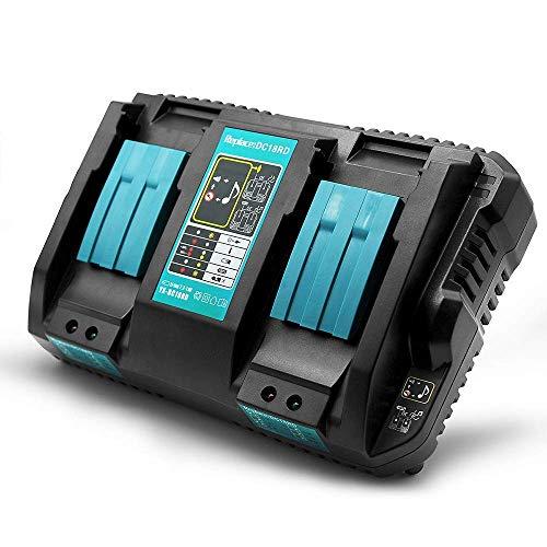 Caricatore di ricambio DC18RD 4A per batteria Makita 14,4Volt 18Volt Akku BL1850 BL1850B BL1840 BL1840B BL1830 BL1815N, Makita Akku 14.4V BL1415 BL1430 BL1440
