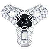 Éclairage de garage à LED, plafonnier de sécurité de 6000 lumens, lampe d'atelier déformable E27 - lumière du jour 6000K -...