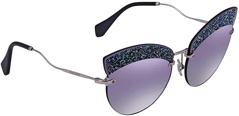 Miu Miu SCENIQUE EVOLUTION SMU 58T SILVER GREY blueE SHADED women Sunglasses