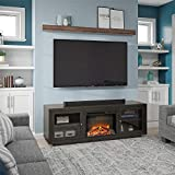 Ameriwood Home Bailey Fireplace 75', Espresso TV Stand,