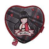 Santoro Gorjuss borsetta a forma di cuore, motivo scozzese; The collector, 847GJ01