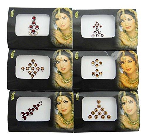 Bindi Face Pack De Décoration De 6 Auto-Adhésif Bindi Pack Cadeau De Mariage Pour Les Femmes