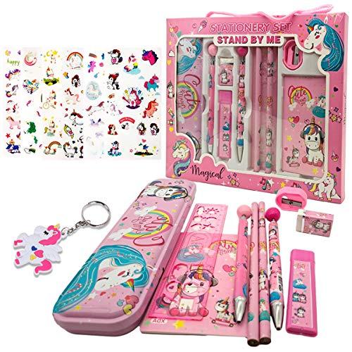 Set de Papelería Unicornio Estuche Unicornio Set de Papelería Set de Papelería Kawaii Set de Papelería Para Niñas Regalos de Unicornio Kit Material Escolar Set Papelería Infantil (2)