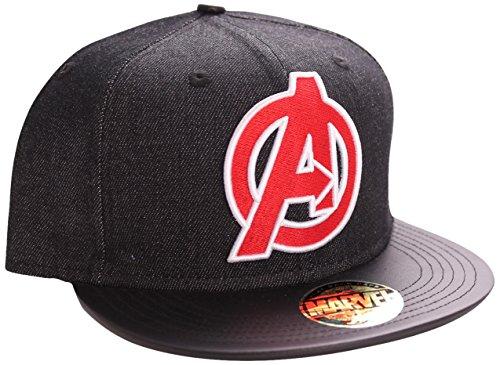 Marvel The Avengers-Logo casquette visières, Noir, Fabricant: Taille Unique Mixte