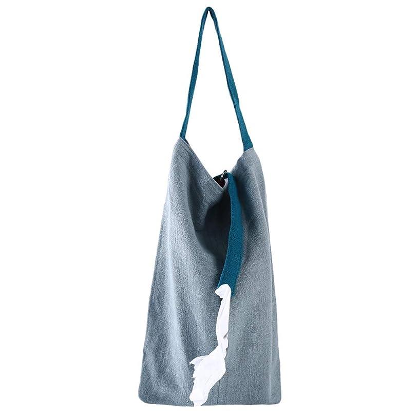 ディプロマほのか定義する火の色 ティッシュケース 吊り下げ 壁掛け ティッシュボックス ティッシュカバー 袋詰めティッシュ用 コンパクトタイプ 取り付け おしゃれ 水色