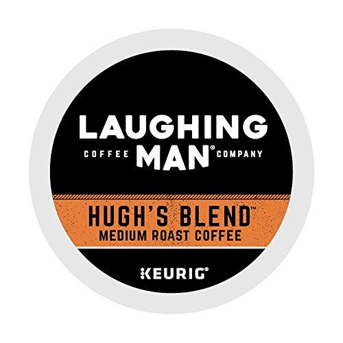 Laughing Man Hugh's Blend, Single-Serve Keurig K-Cup Pods, Medium Roast Coffee, 16 Count