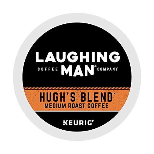 Laughing Man Hugh's Blend, Single-Serve Keurig K-Cup Pods, Medium Roast Coffee, 60 Count