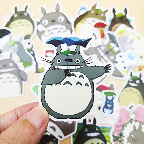 KEJIA Cute Cartoon Creativo Retro Frigorifero Skateboarder Account Diario Account Hayao Miyazaki Il Mio Vicino Totoro Adesivi Fai da te40Pcs