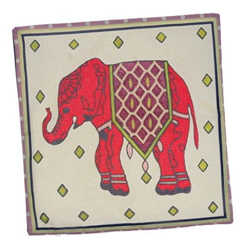 Gazechimp Funda de Almohada de Lino de Elefante Funda de Cojín Sofá Cama en Casa Decoración Decorativa para El Hogar