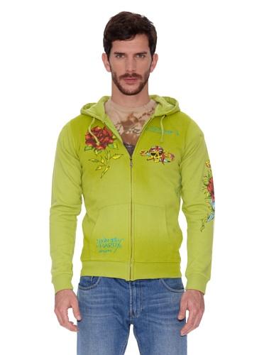 Ed Hardy Sudadera Potassium Tunic Hoody Verde Oliva XS