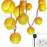 Solar LED Lanterns String Lights, ALED LIGHT 13.2Ft 4M 20 LED Waterproof Outdoor Decorative Stringed LED String Lights Lanterns for Party,Christmas,Garden,Patio,Halloween, Decoration (Warm White)