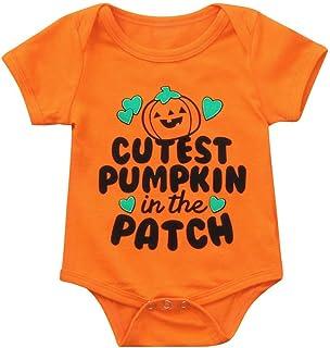 OverDose Damen Happy Halloween Neugeborenen Baby Mädchen Jungen Brief Print Strampler Overall Halloween Outfits Overall Vampire Cosplay Kostüm