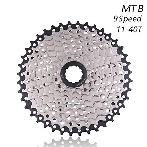 HIGHER MEN 9S 11-40T Gratuito de Bicicletas MTB Ruedas del Volante 9 Speed Cassette Volante 11-40T Compatible for Piezas Shimano M390 M3000 (Color : 9S 11 40T)