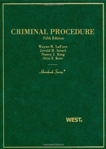 Criminal Procedure (Hornbooks)
