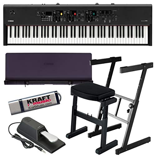 Yamaha CP88 Stage Piano with Music Rest, Z-Frame Stand, Z-Frame Bench and Flash Drive