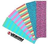 Venom Skateboards - Nastro perforato professionale per skateboard, 9 x 33 cm, colori neon, Stripe Neon Verde