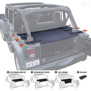 GPCA Wrangler JK Cargo Cover PRO - Reversible for Top on/ Topless Sport/ Sahara/ Rubicon compatible with Jeep Unlimited 4DR 2007-2018 Models