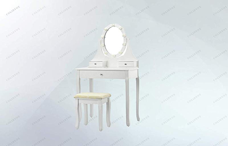 COLIBROX 3 Drawers Vanity Makeup Dressing Table If You Are Looking For A Unique And Classic Dressing Table You Mustn T Miss Our Exquisite And Beautiful Vanity Table Set It Is In Classic White