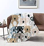 MYSTCOVER Cute Koala Throw Blanket Super Soft Lightweight Luxurious Cozy Warm Fluffy Plush for Bed Couch Living Room 60'X50'for Teens