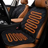Sunny Color Velour 12V Car Heated Seat Cushion with Intelligent Temperature...