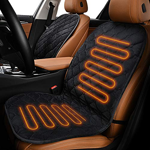 Sunny Color Velour 12V Car Heated Seat Cushion with Intelligent Temperature Controller Safety