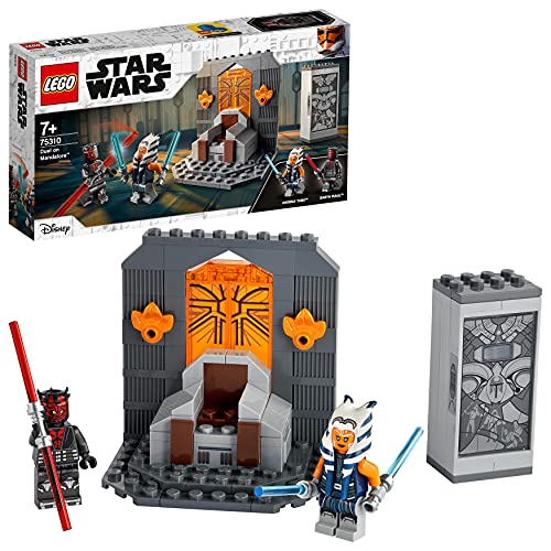LEGO 75310 Star Wars Duel on Mandalore Building Toy for Boys and Girls Age 7 , Set with Darth Maul Minifigure and Lightsabers