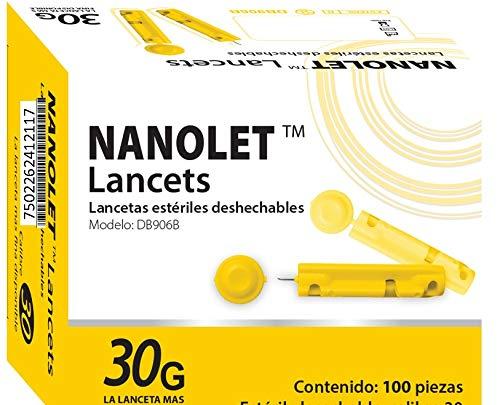 100 Lancetas Universales Glucosa Estériles Benesta 30g