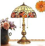 okuya Lámparas de sala de estar Lámpara de mesa de estilo vintage y lámpara de lámpara Luz de lámpara de pie con sombra Lámpara de vidrieras Sombras Lámpara de escritorio Dormitorio Dormitorio Dormito