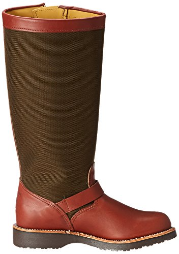 """Chippewa Women's 15"""" Pull On L23913 Snake Boot,Brown,5.5 M US"""